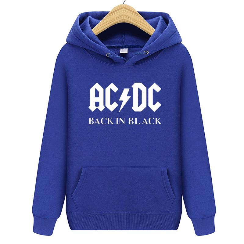 Hoodies Men Hip Hop Rock Band ACDC Sweatshirt Male Casual Streetwear Jacket Hoody Sweatshirts Men Women Brand Clothing s-2xl