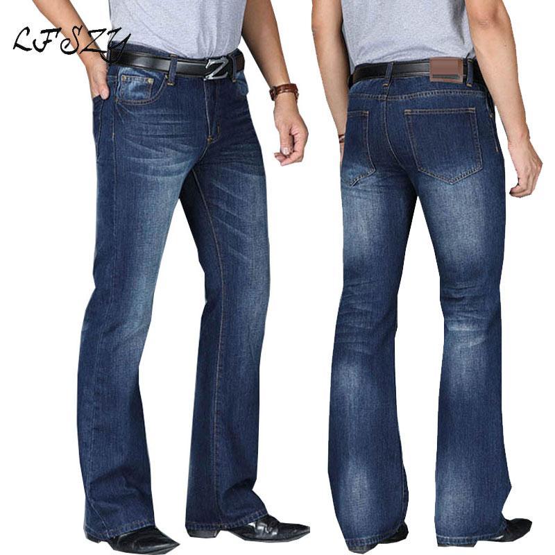 Hommes 2020 Hommes Modis Big Boot Cut Jeans évasés Leg Flared Loose Fit taille haute Homme Designer classique Jeans Pantalons