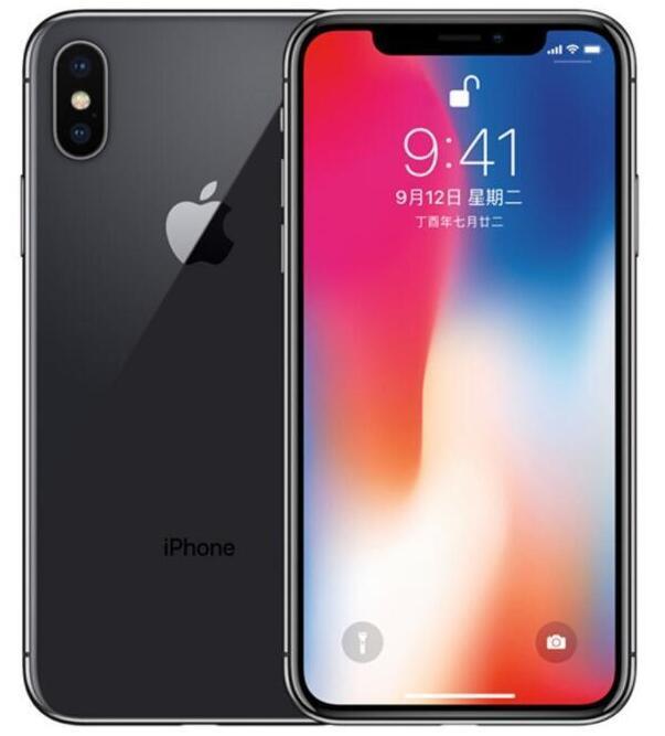 Refurbished Original Apple iPhone X No Face ID Unlocked Cell Phone 64GB/256GB iOS 13 5.8inch 12MP Dual Rear Camera