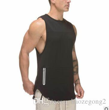 2019 new Brand Mens Bodybuilding Tank Tops Man Gyms Fitness Sleeveless shirt Casual Fashion Sling Vest Workout Undershirt Male Clothing