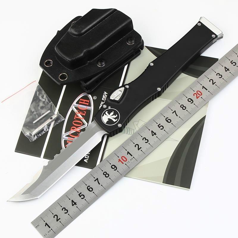 전술 knifewith kydex 덮개 자동 높은 품질의 MICROTECH 150-10 HALO V 6 ELMAX 블레이드 알루미늄 핸들