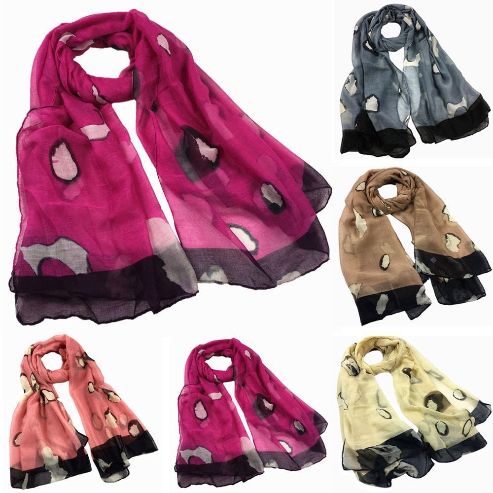 Spring Autumn 2019 Fashion Thin Shawls Silk Satin Scarf Elegant Shawl Women Print Long Soft Scarf Wrap Shawl Stole Scarves