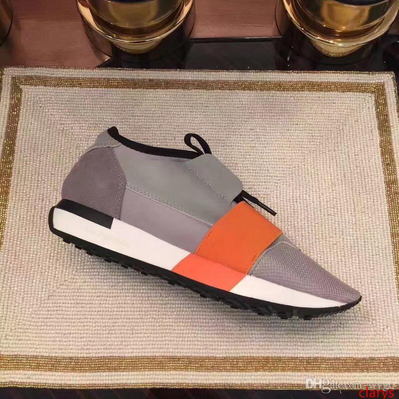 Nuovi Designer Scarpe Scarpe uomo Casual 2019 nuovo modo poco costoso Flats Runners Racer scarpe di lusso da donna