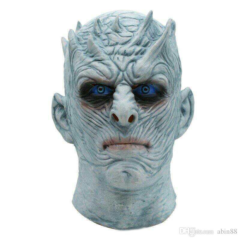Halloween Night König Maske Movie Game Thrones Nacht König Mask Halloween Realistisch Scary Cosplay Latex-Partei-Erwachsener Props Maske