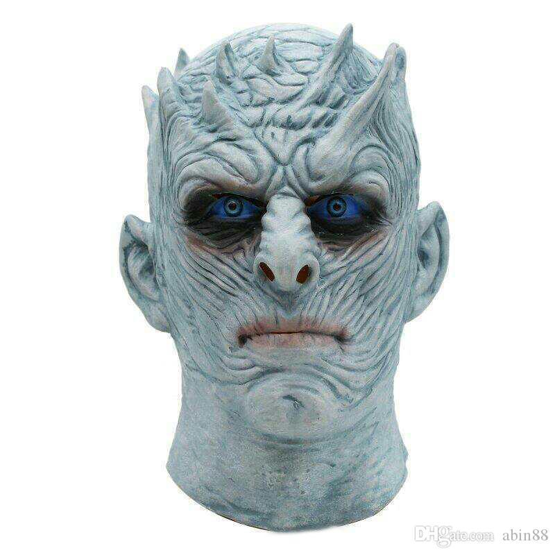 Halloween Night king mask Movie Game Thrones Night King Mask Halloween Realistic Scary Cosplay Costume Latex Party Mask Adult Props