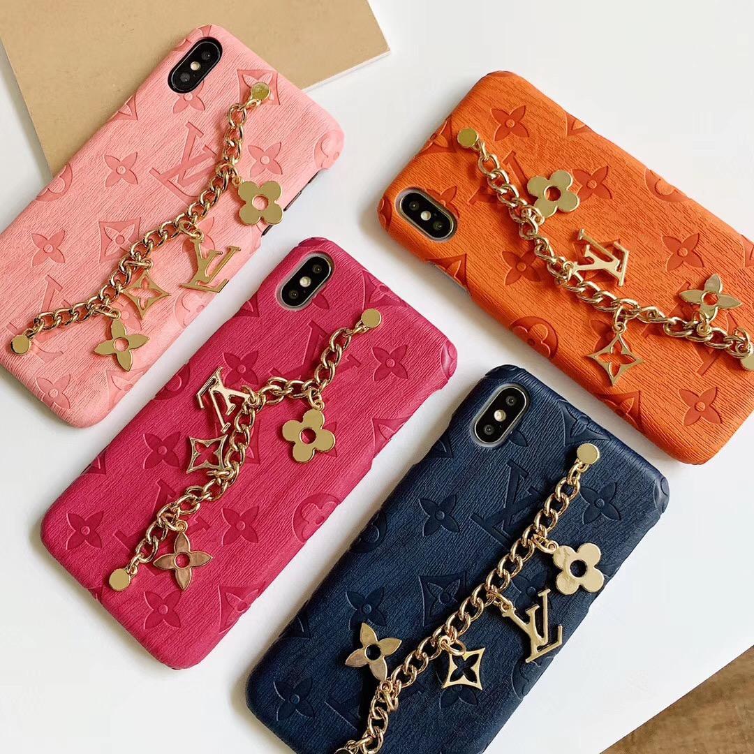 Casos de telefone de luxo pulseira para iphone 11 Embossed pro Max XR XS Max 7 8 8plus caso Shell para o iPhone 11 pro tampa traseira tampa protetora