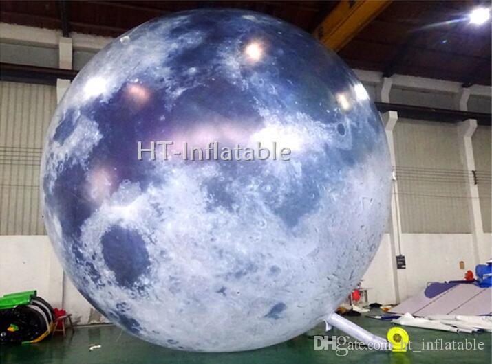 شحن مجاني 4M LED نفخ القمر غلوب الهليوم بالون القمر الكبير حدث نفخ بالون LED ضوء