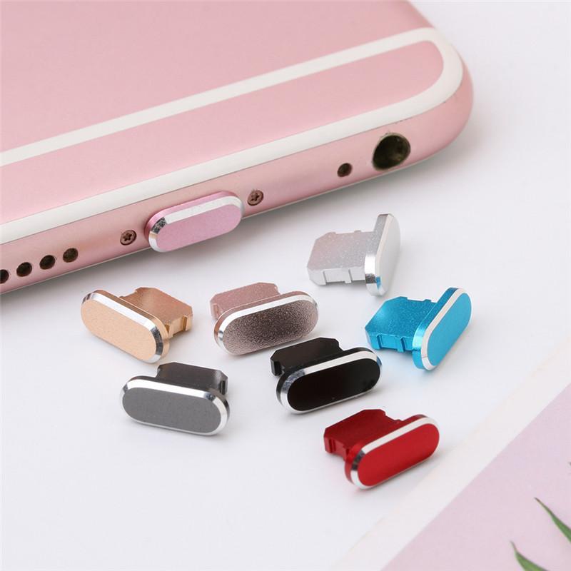 Bunte Metall-Antistaub-Charger Dock-Stecker-Stopper-Kappen-Abdeckung für iPhone 11 Pro Max X XR 8 7 Plus-Handy-Zubehör