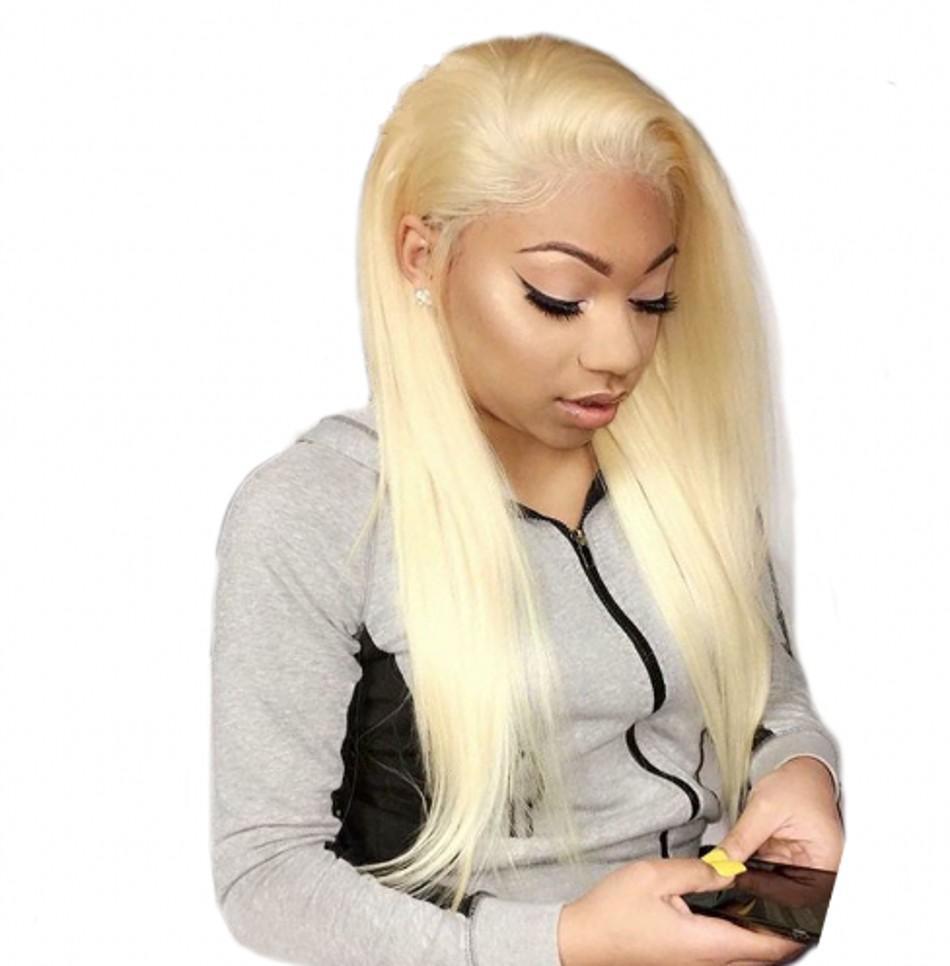 613 perucas de cabelo mongol Hetero completa Lace humano com cabelo do bebê 130% Densidade Loiro parte dianteira do laço Perucas Natural Hairline