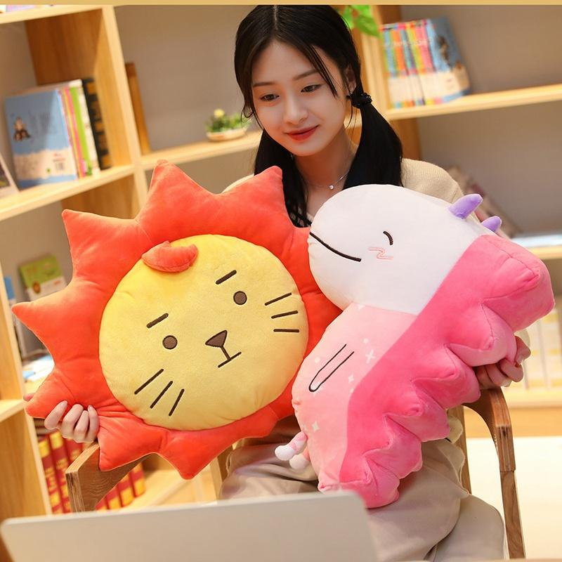 Hot Multiple Style Pillows Animal Lion Dragon Samoyed Plush Toy Cartoon Cloud Television Stuffed Doll Sofa Pillow Cushion Gifts 20170627