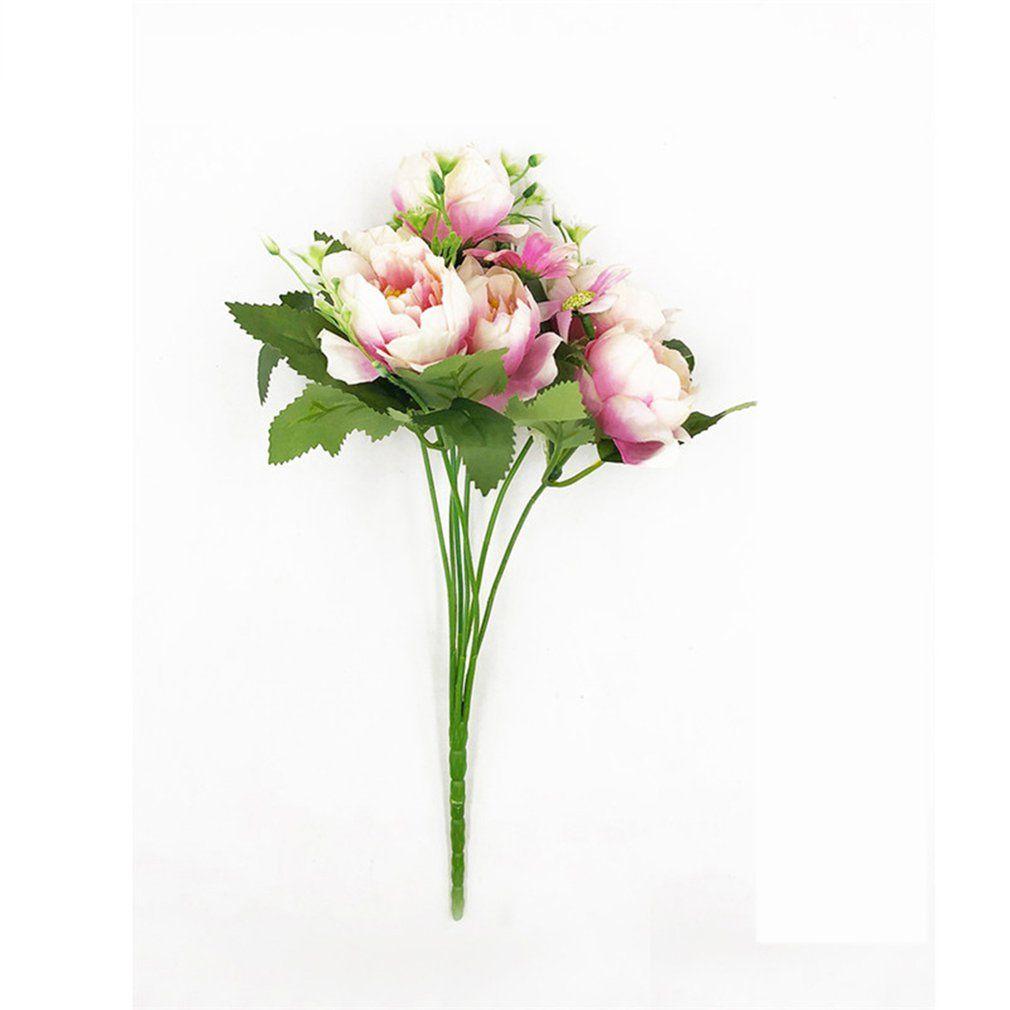 WX гуашь весной пион свадьба искусственный цветок Поддельные цветы Свадебные украшения для дома и офиса Цветет Декор