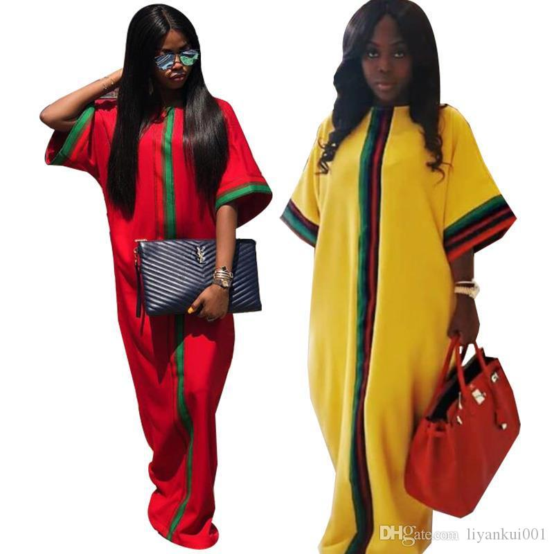 새로운 캐주얼 전통적인 아프리카 롱 맥시 드레스 여름 디지털 인쇄 절반 슬 리빙 로브 가운 드레스 느슨한 플러스 사이즈 여성 의류 S-2XL