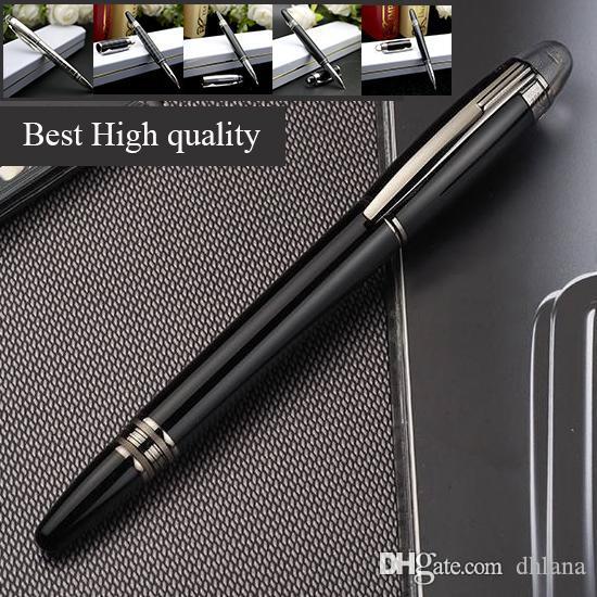 Black Resin Rollerball-caneta esferográfica FountainPens escrita material de escritório material escolar de alta qualidade pen Promoção de Luxo