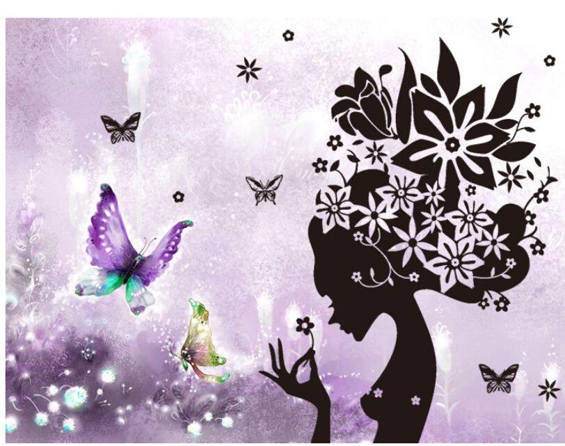 Amovible mur autocollant Fleur autocollant décoratif Accueil Chambre Salon Décoration Stickers muraux