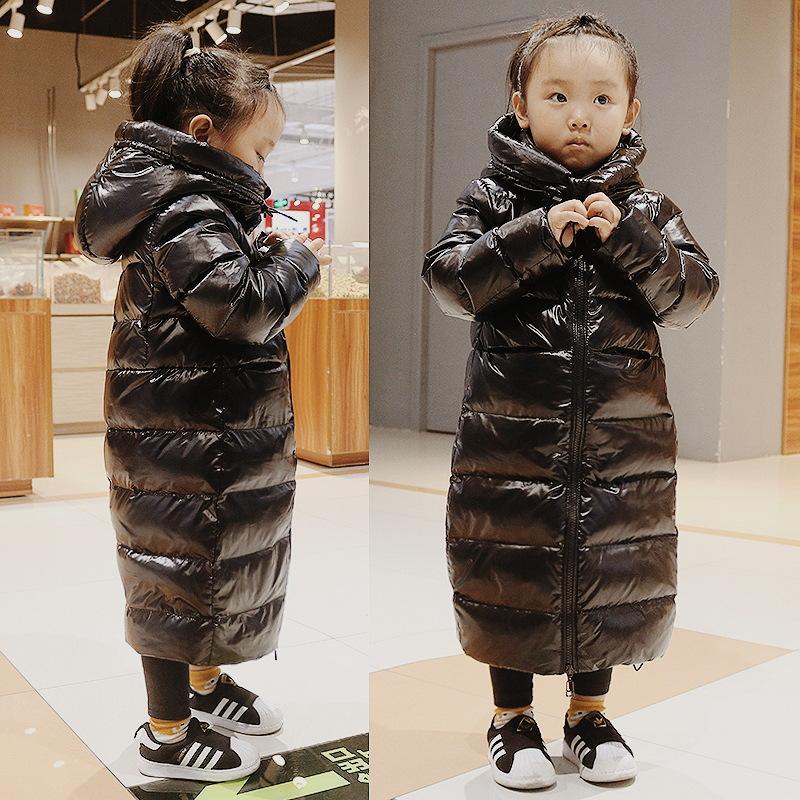 Caliente grueso de la chaqueta invierno de las muchachas chaqueta impermeable abajo para la capa Niñas 2-12 años Niños Niños prendas de vestir exteriores de los niños Parka