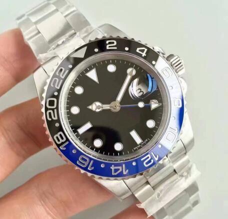 Kaliteli G-M-T mens çerçevesi Sıcak satmak seramik Yeşil siyah ALT izle safir cam orijinal Stainess toka saati erkek kol saati izlemek