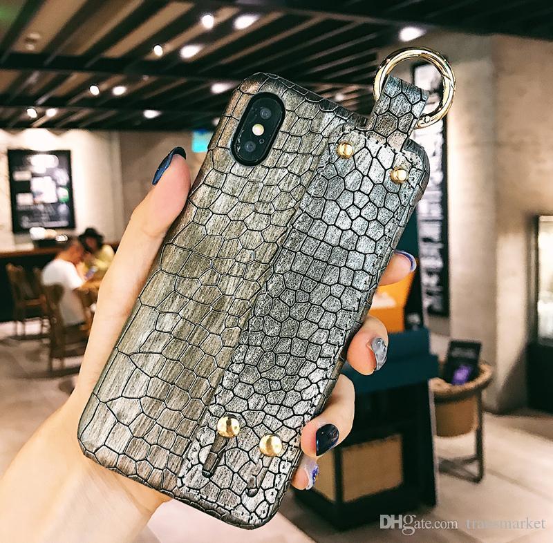 송료 무료 Iphone Xs 악어 무늬 휴대폰 케이스 Max, XS, XR, X 시리즈 세련된 전화 케이스