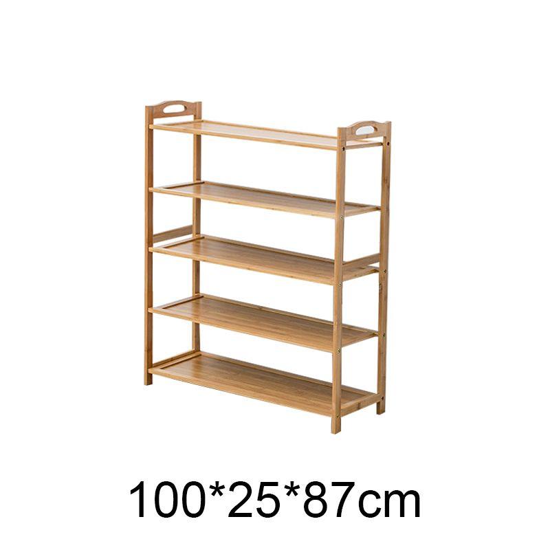 Cinq étages 100 * 25 * 87 Jardin, Armoire de rangement multi-couche de salle de porte-chaussures cour vivant en rack bambou chaussure simple, montage simple étagère à chaussures