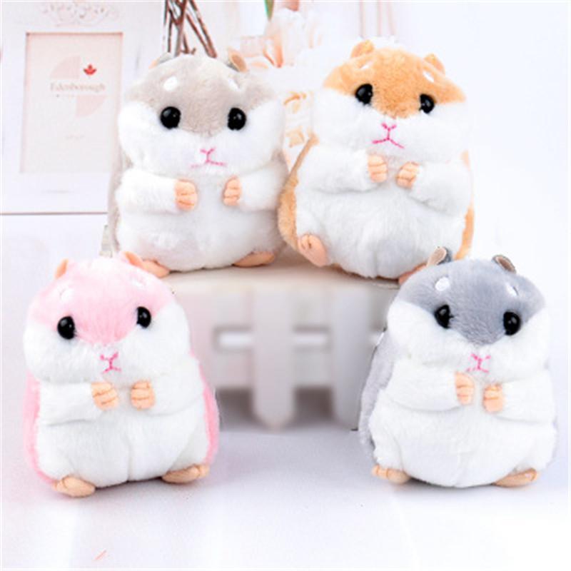 Boneca de Brinquedo pequeno Hamster Novo Estilo Bonito Dos Desenhos Animados de Pelúcia Macia Kawaii Animal Chave Cadeia de Brinquedo Do Rato De Pelúcia Aniversário ou Natal Bebê Recheado