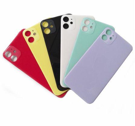 Para iPhone 11 11 pro 11 pro bateria max habitação tampa traseira substituição tampa traseira de vidro câmera grande buraco Sem desmontagem com adesivos