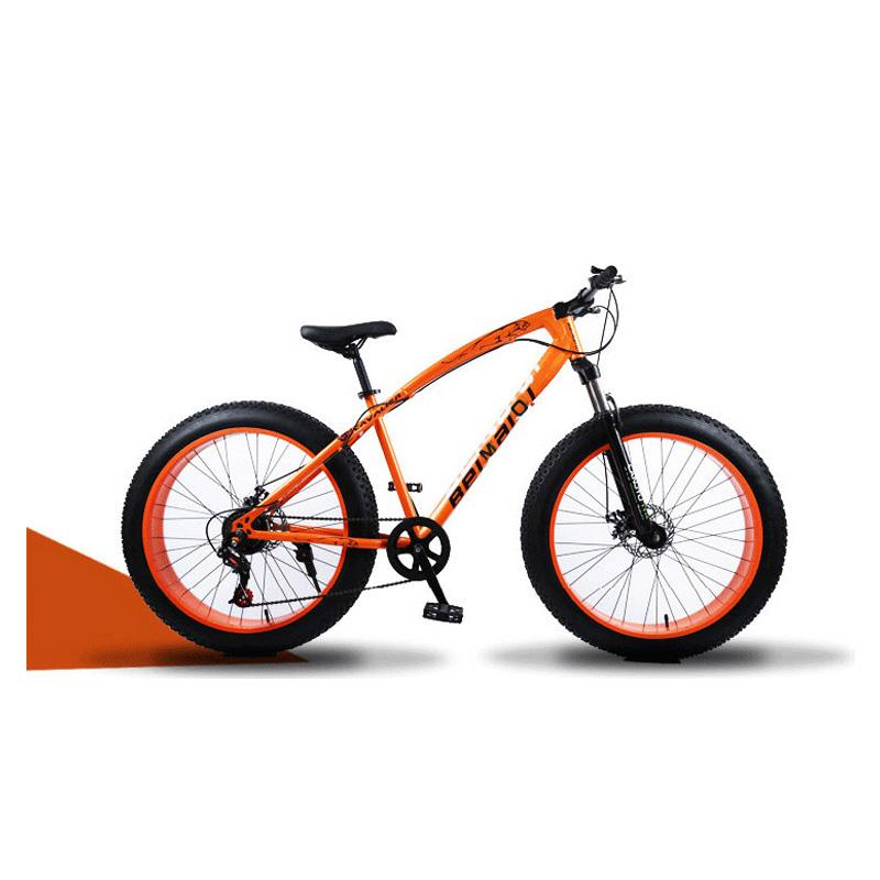 Snow Mountain Bicycle 24 Inch 24 Speed High Carbon Steel Frame Double Disc Brake Off-Road Variable Speed Beach Bike