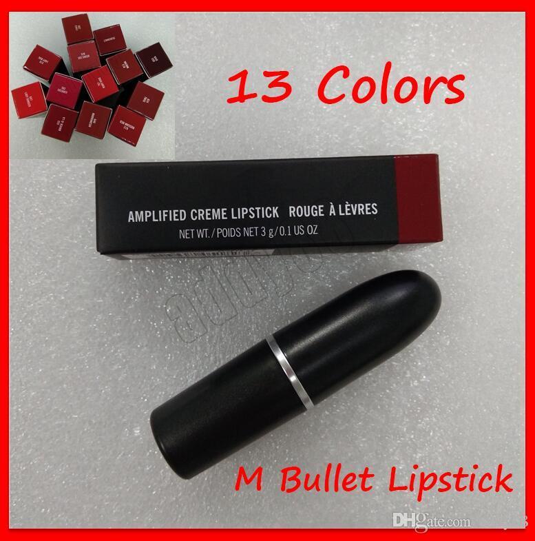 2019 maquillage de la lèvre mâtre lustre lustre rétro givre sexy rouge lèvres rouge 13 couleurs tube en aluminium bullet lèvres 3G avec nom anglais