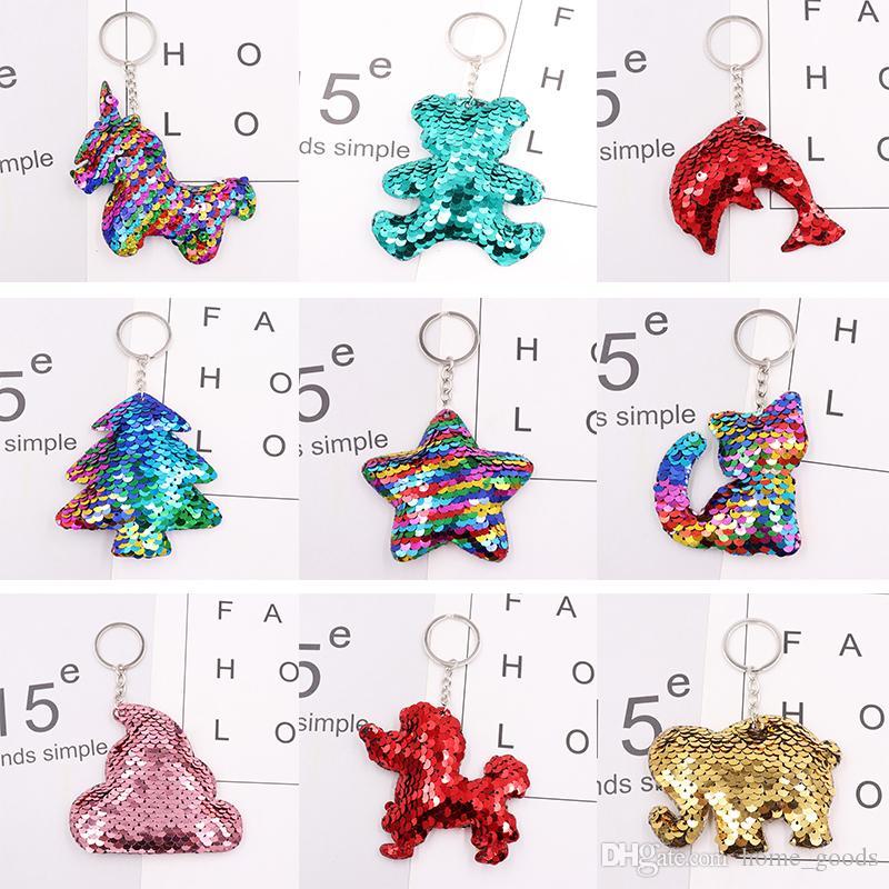 Girls Keychain Wallet Sequins Coin Purse Keychain Cute Cherry Handbag Kids Tote