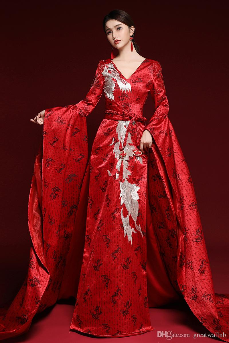 100% echte rote Stickerei Druck lange Vintage Zug Krönung Drama Kleid mittelalterlichen Renaissance Königin viktorianischen Kleid