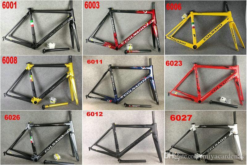 2020 Colnago c60 C64 strada del carbonio bicicletta Telaio bici frame fibra piena del carbonio bicicletta del carbonio 32 colore differente