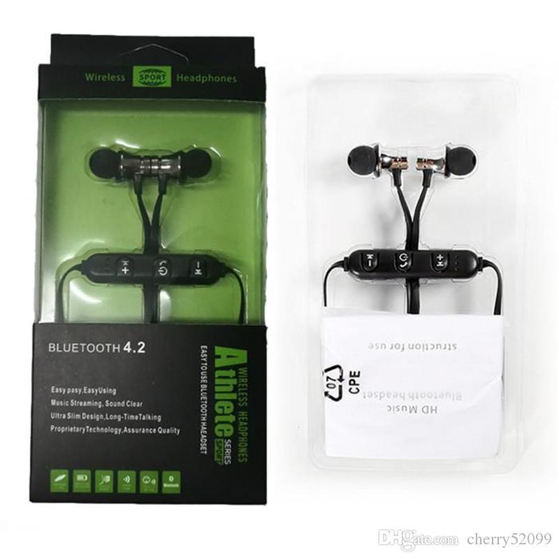 XT11 Bluetooth наушники Magnetic беспроводной Running Спортивные Наушники гарнитуры BT 4.2 с микрофоном MP3 Earbud для iPhone LG смартфон в Retai Box