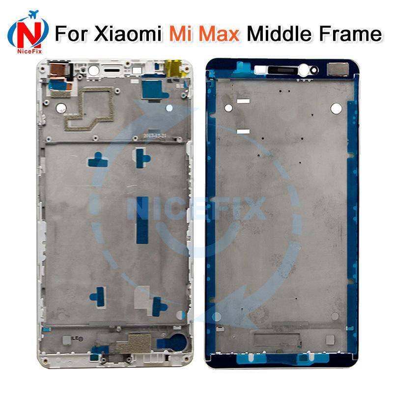 """Высокое качество средняя рамка для 6.44 """" Xiaomi Mi Max передняя панель / средняя рамка корпус белый / черный на складе с отслеживая номером"""