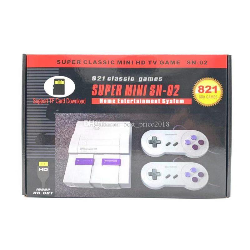 Atualizar MINI Handled Video Game jogador SNES 8-bit HDMI pode armazenar 821 Output Jogos TV Jogo Suporte Console TF grátis DHL