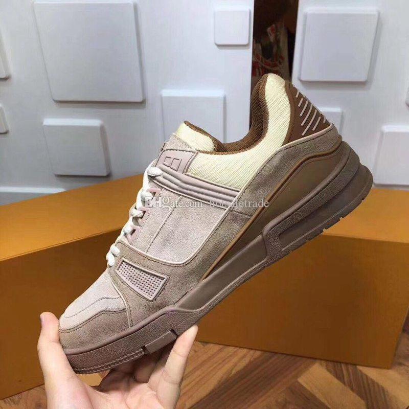CHAUSSURES 브라운 플랫폼 정품 가죽 캐주얼 신발 가죽 신발 남성 여성 신발 신발