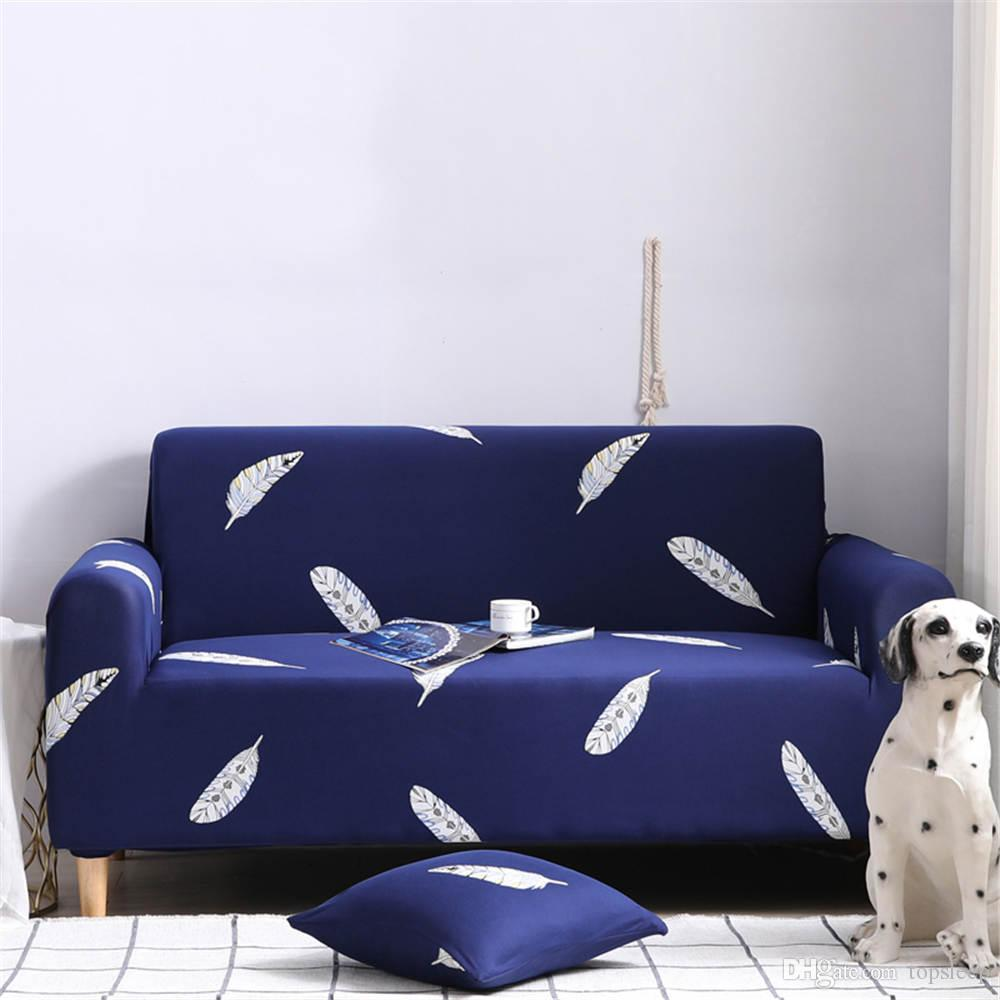 Romantic Luxury Sofa Cover Elastic For Living Room Blue Color Corner Sofa  Cover Comfortable Of Home Furniture Protector Dining Chairs Covers For Sale  ...
