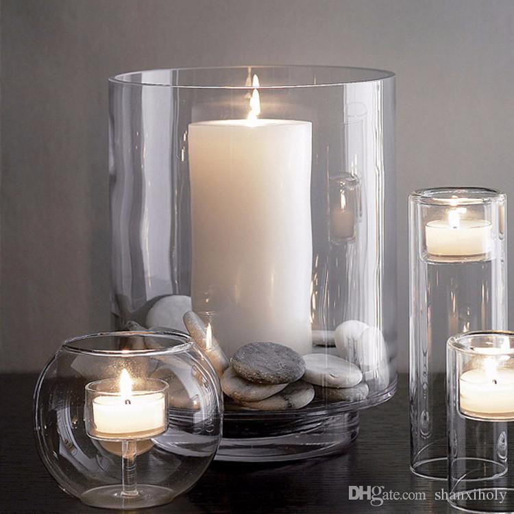 Großhandel Kerzen Duft Luxury Jar Große Hurrikan Laterne Kerzenhalter aus Glas