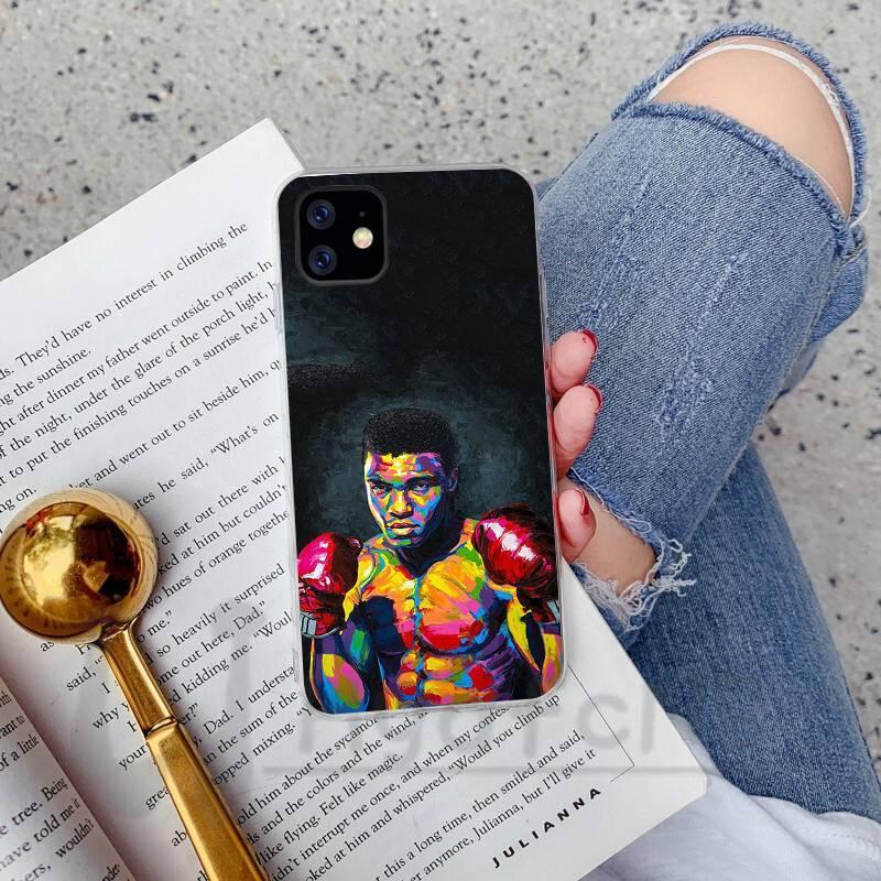 2020 Muhammad Ali campione di boxe Copertura molle della cassa del telefono del silicone per iPhone 11 pro XS MAX 8 7 6 6S Plus X 5 5S SE XR copre all'ingrosso