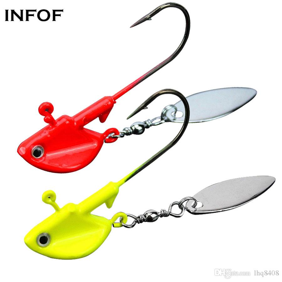 Jig Heads Fishing Lures with Blade Spinners Saltwater Freshwater Metal Hard Bait Wobblers Sea Bass Trout Fishing Lures Lead Jigs