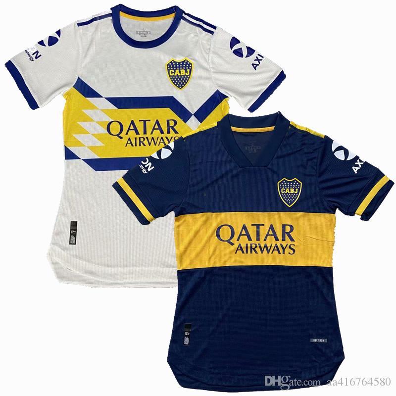 Player version 20 21 Boca Juniors Maillots de maillot de football pieds SALVIO TEVEZ DE ROSSI 2020 2020 maison loin le joueur de football chemise