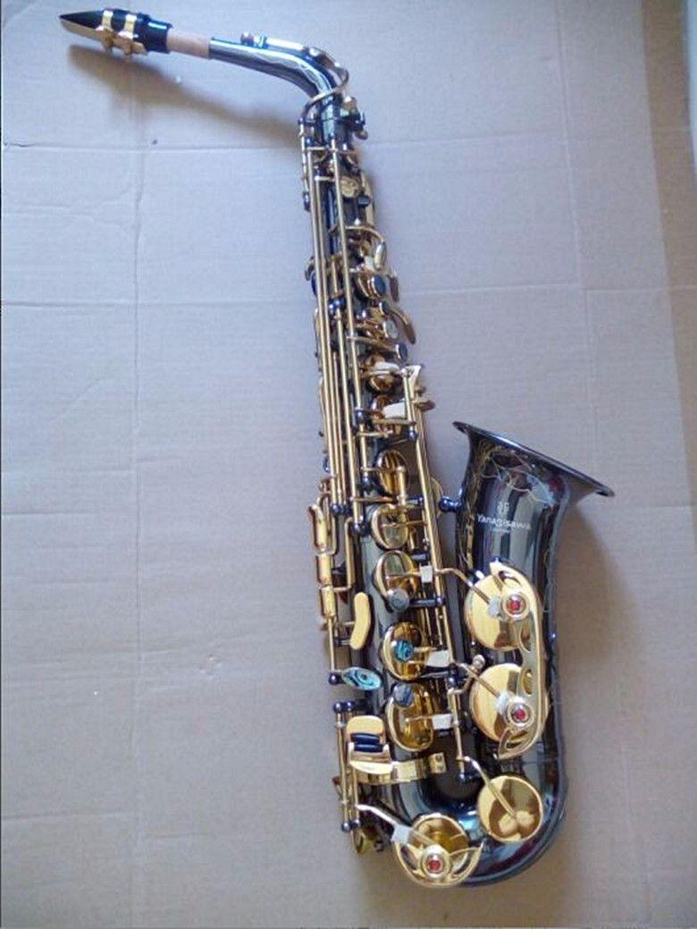 Yanagizawa A-991 Sassofono Alto Play Play Professionale Black Nickel Gold Key Sax e Tune Strumenti Caso di spedizione gratuito