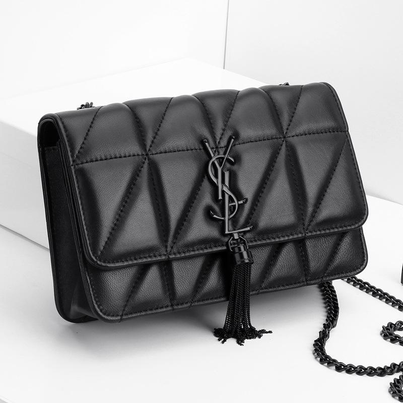 فاخر الكتف جوكر واحد جديد أنثى حقيبة صغيرة معطر الرياح حقيبة Lingge سلسلة الكتف رسالة الموضة وايلد حقيبة رسول حقائب جلدية