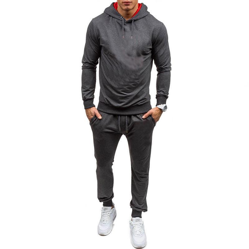 spor giyim markası baskı elbiseyle erkekler tasarımcı yeni moda pantolon gergin + kapüşonlu spor takım elbise dört renkli seçim