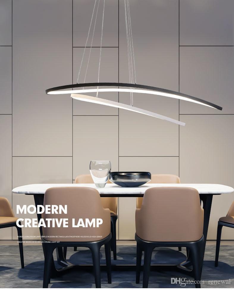 Vay YENİ Dim Modern kontrolü ile yemek odası yatak odası studyroom avize ışıkları 110V 220V lampadario için Avizeler LED