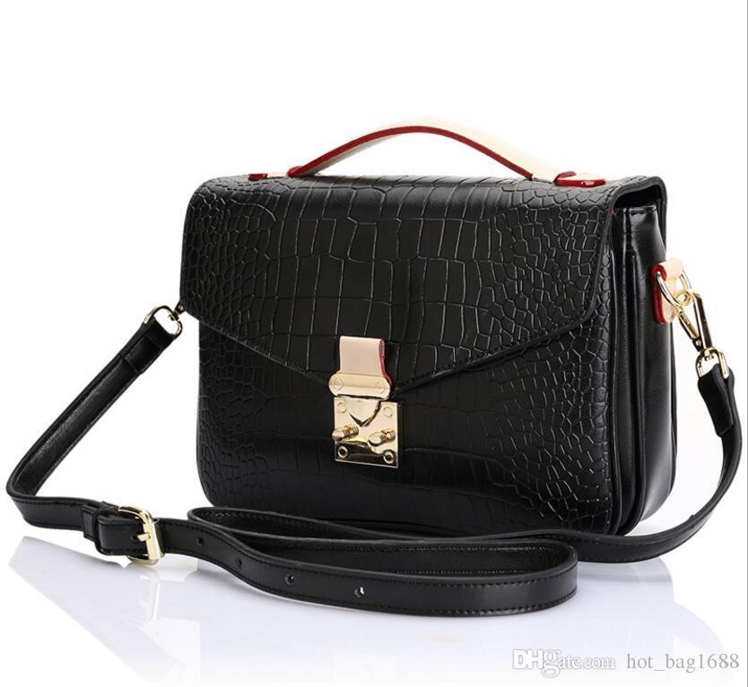Taschen Messenger Hohe echte schwarze Handtasche Qualität METIS Schulter Frauen Pochette geprägte 2021 Crossbody Ledertasche CVNFM