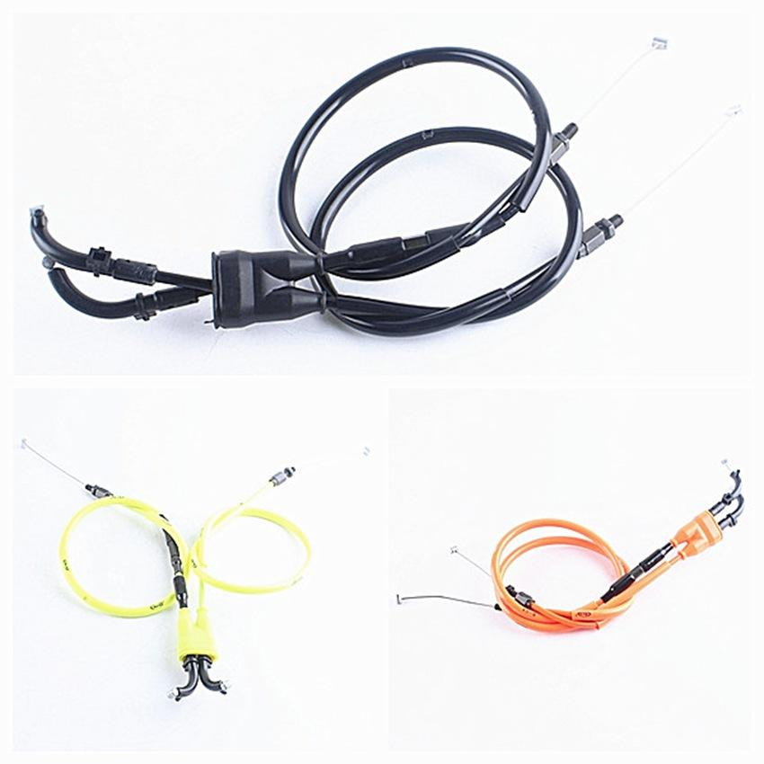 Cable del acelerador Cable Línea de la motocicleta 2pcs para YZF R6 2006-2016 2007 2008 2009 2010 2011 2012 2013 2014 2015