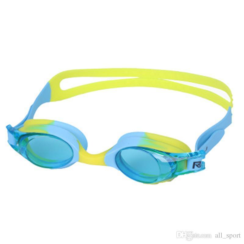 5 colores Venta caliente Marca de moda Colorido Silicona Impermeable Anti-vaho Niños Niña Niño Niños Gafas de natación / Nadar Vidrio