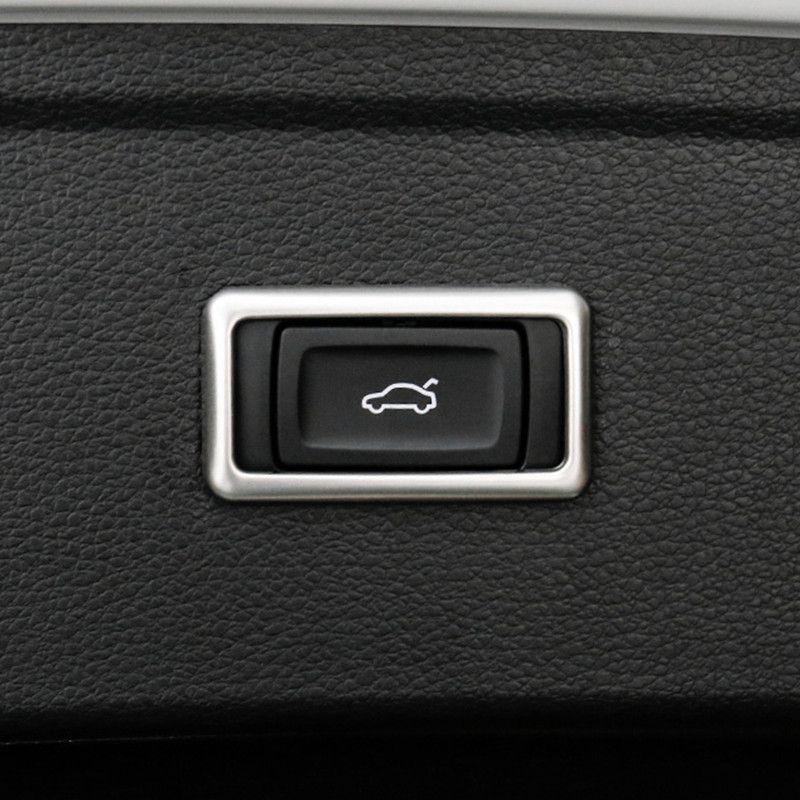 Voiture électrique arrière Interrupteur de porte Bouton Cadre Décoration Stickers Pour Audi Q5 FY 2018 2019 Intérieur en acier inoxydable Accessoires