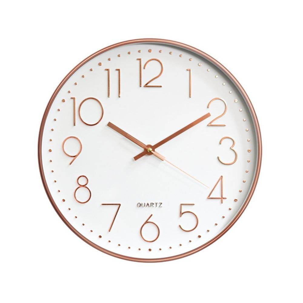 12 pouces Nordic Horloge murale Creative Horloge Minimaliste Salon Hanging nuit Sourdine Décoration Rétro mur Horloges
