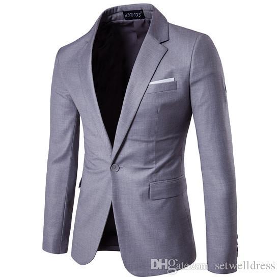 Подходит Setwelldrees выполненное на заказ Мужские Blazer High Quality-Slim свадьба Повседневные платья Groom костюмы (куртка) One