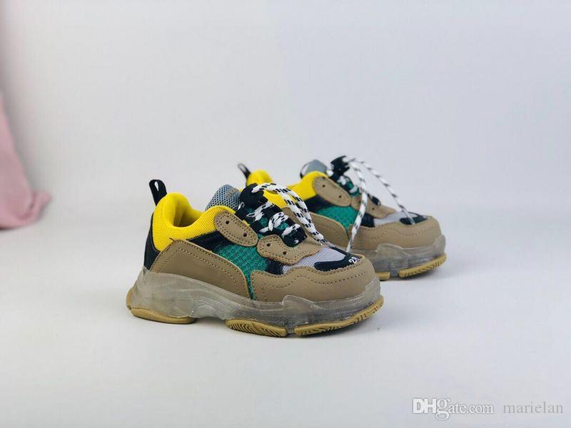 niña y bebé de los muchachos de los niños transpirable baloncesto zapatilla de deporte de marca con Wudao Deportes atléticos del resorte ocasional de los zapatos corrientes B1 de niños