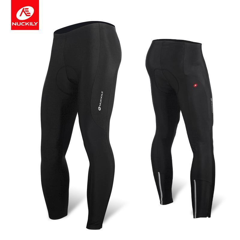 NUCKILY Bisiklet Tayt Jel Pad Erkekler Bisiklet Pantolon Uzun Sonbahar Yansıtıcı Spor Giyim Bisiklet Giyim MM007